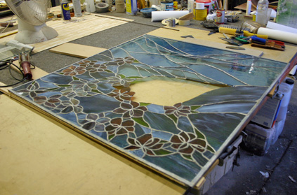 Stained Glass Panel before restoration