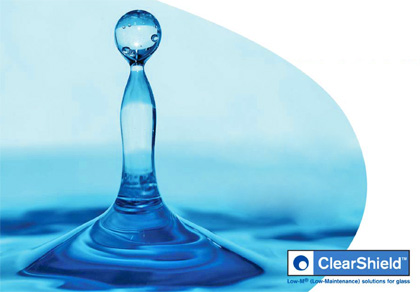 Clear Shield, a revolutionary product to minimise the amount of cleaning on your new glass product.